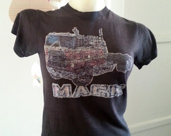 Vintage tore up and faded out Mack truck tee shirt