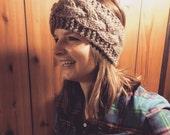 Knitted Headband, Chunky Headband, Cabled Headband, Hair Accessory, Braided Headband