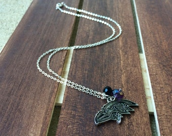 Baltimore Ravens Inspired Charm Necklace