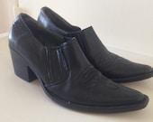 Womens Below the Ankle Western Cuban Heel boots Size 8