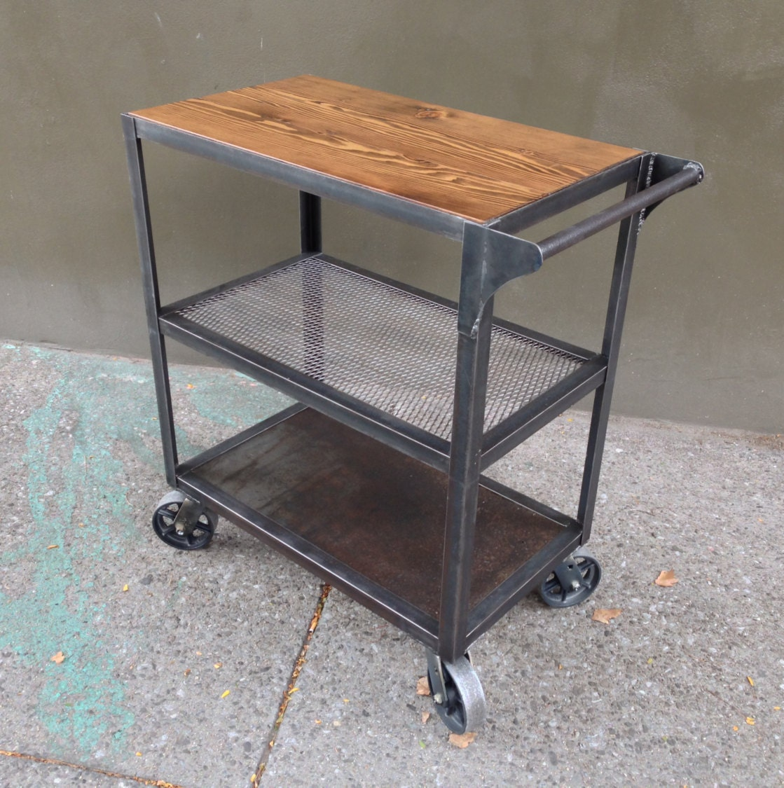 Industrial Kitchen Cart Bar Cart Serving Cart: Industrial Bar Cart Bar Cart Kitchen Cart Serving Cart