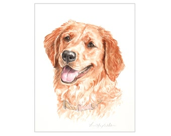 "5""x7"" Watercolor custom pet portrait, watercolor original painting dog cat animal pet lover painting handmade wall art gift"