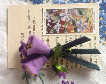 1940s style felt flower corsage