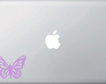 MB - Butterfly - D1 - Vinyl Decal for Macbooks,  Laptops and More... (Color Choices)