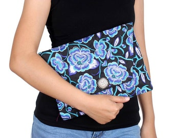 Blue Blossom Clutch With Embroidered Pattern Fabric (BG306DW-87C6)