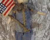 Primitive Americana Civil War Union Solider Doll Shelf Sitter--MADE TO ORDER