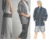 Boho Retro 1985 Vogue 1522  Misses' Jacket, Dress, Top, Pants and Shorts, An Original By American Designer Perry Ellis Size 14