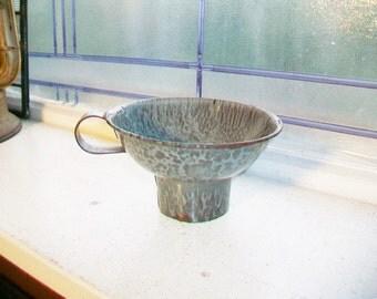 Gray Graniteware Canning Funnel Antique Farmhouse Decor