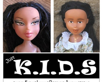 Bratz Transformed into Just Kids, Asian Bratz dolls changed, Rescued dolls