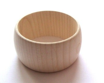 Wooden bangle - 40 mm / set of 5 / natural unfinished wood  / wooden bracelet
