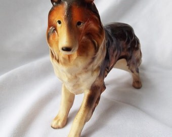 Vintage JAPAN Collie Ceramic Dog