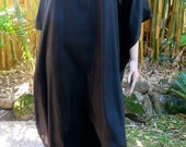 Black Silk Kaftan, Cover up, Long Kaftan Summer Dress, Silkz design