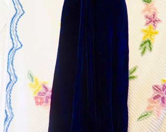 Blue Velvet 90s Dress. Cut Out O-Ring Front Cocktail Dress, Sexy Prom Dress, Spaghetti Strap Dress