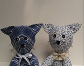 Cat Kitten Custom Memory Stuffed Animal Made From Shirts of a Loved One