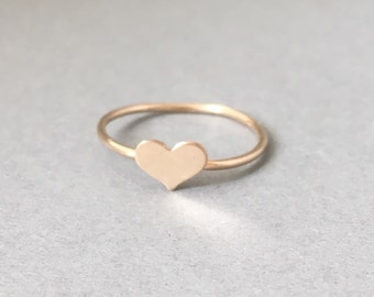 Gold Fill Tiny Heart Ring also in Rose Gold and Silver