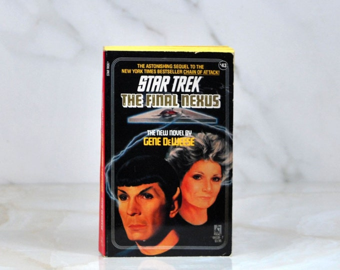 Vintage Paperback Book Star Trek The Original Series The Final Nexus #43 1988 - Interstellar Gates - Enterprise - Creatures - Captain Kirk