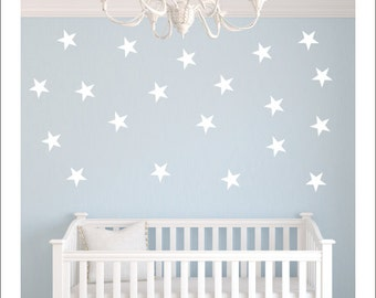 Set of Star Decals Peel and Stick Stars Nursery Wall Decals Confetti Wall Pattern Stars Vinyl Decals Silver Decals Gold Wall Decal Stars