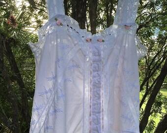 Orphan Rustic Romantic Camisole Shift/ Dress Boho Shabby Chic Free People Style Size Medium
