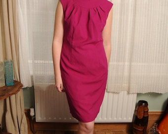Vintage 1960's Pink Dress by Couture Herriette of Belgium