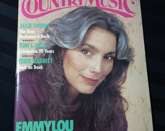 Country Music #135 (January/February 1989) - Emmylou Harris cover ~ vintage 80s magazine back issue