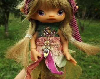 tan Jali  full set  bjd  fairy elf fairie doll  ready to ship
