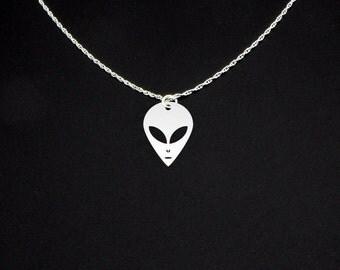 Alien Necklace - Alien Jewelry - Alien Gift