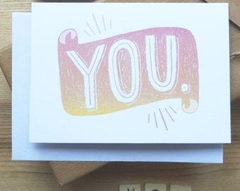 YOU greetings card
