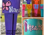 Personalized Beach Spike Cup Monogram, Summer, Beverage Holder, Drink Holder, Vacation, Bachelorette Parties, Girls Weekend