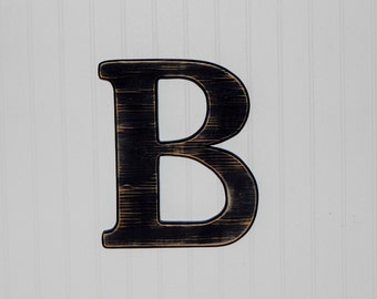 Wooden Letter B Distressed Wood letters  Photo Props Monogram
