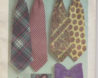 1972 Necktie and Bow Tie Pattern | Vintage Sewing Pattern | Simplicity 5234 | Men's Ties | Women's Ties | Reversible Tie Pattern | 70s 1970s
