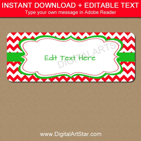 Editable printable address labels diy holiday return address editable printable address labels diy holiday return address labels cute christmas address label template modern christmas gift labels c4 pronofoot35fo Images