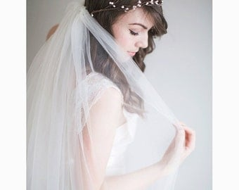 Bridal Flower Crown, 1920s wedding, Boho Bridal Crown - Rosalie