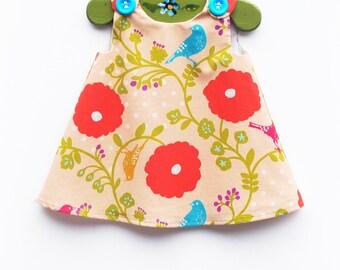 Echino - Girls Dress - Toddler Girls - Japanese Fabric - Imported Fabrics - Etsuko Furuya  - Summer Dress - Japanese Designer - 3M to 4T