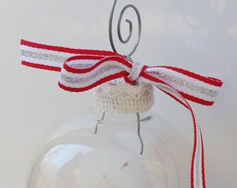 Hot Cocoa with Marshmallows  - Glass Ball Holiday Ornament