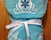 Infant Ice Princess Hooded Towel Set - Free Personalization