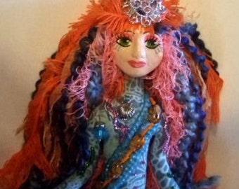 Goddess of the Sea Glamor Mermaid art doll