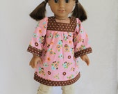 Art Smock Bohemian doll dress - Dolls clothes to fit Journey Girl dolls and American Girls dolls