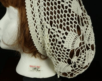 Cotton lightweight beret Bohemian Lace hat Women summer slouchy beanie hat Crochet beret Boho hats White beanies Hippie festival hat