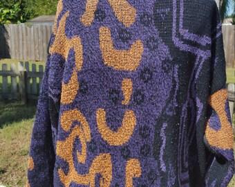 Orange and Purple Cosby Sweater