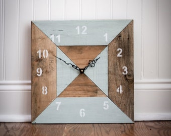 Reclaimed Pallet Wood Wall Clock (Hourglass)
