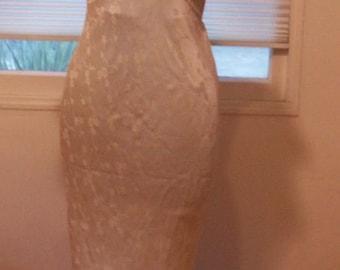 1930's long silk nightgown