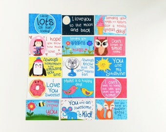 Lunchbox Notes for Kids - Encouragement Cards - School Notes