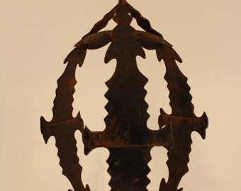 Rustic Wrought Iron Candle Holder