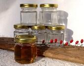 140 Hex Honey Jars Honey Favors Wedding Favors Baptism Favors Honey Jars Hexagon Jars Six Sided Jars Honey Bottles Glass Honey Jars