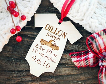 Baby Stats Ornament, Babys First Christmas Ornament, Ornament Baby Stats, Personalized Baby Stats Ornament, Christmas Ornament for New Mom