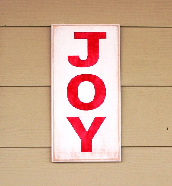 Last one! Available for immediate delivery! - Wooden Christmas Sign - JOY - Painted Wooden Sign - Christmas Decor - 16 x 8 - Hand painted