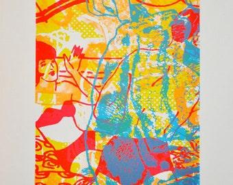 Here's Some, silkscreen art print, 26 x 35.75 inches