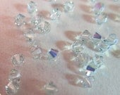 4mm, Swarovski, Art 5328, Faceted Crystal Bicone Beads, Light Azore AB - Available in 20, 30 & 50 Bead Pkgs, Larger Pkgs and Factory Packs