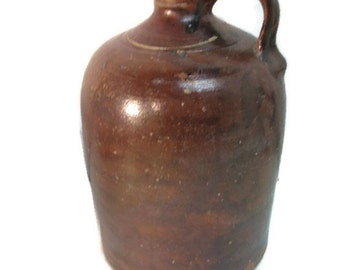 primitive jug, crockery jug, very old brown jug, jug crock