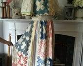 70s Hippie Dress Of Vintage Quilt Top